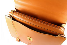 LOEWE tan leather executive briefcase