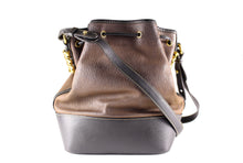 LOEWE bicolor leather shoulder bag