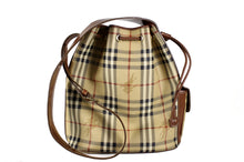 BURBERRY check canvas and leather shoulder bag