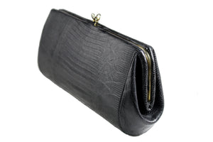 ESCORT black lizard skin clutch