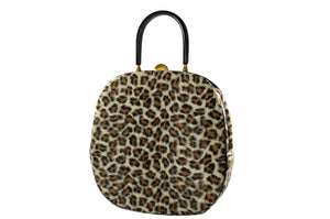 EMPRESS leopard print handbag with lucite handle