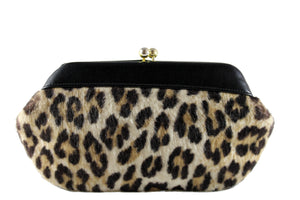 Leopard print clutch purse