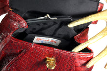 BERNAD bag red snakeskin