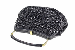 MARCUS BROTHERS wicker bag with faceted beads