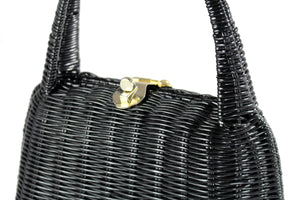 LESCO black plastic wicker bag