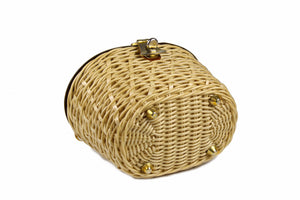 MARCUS BROTHERS wicker and metal bag
