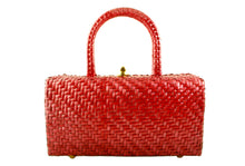 NEIMAN MARCUS cherry wicker handbag
