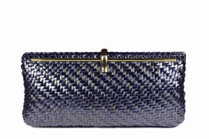 CARRANO intense blue wicker bag