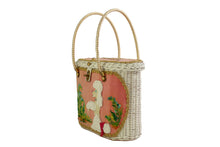 MIDAS OF MIAMI poodle wicker handbag