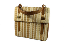 LOEWE leather and fabric handbag in beige