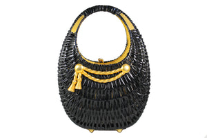 KORET black wicker basket purse