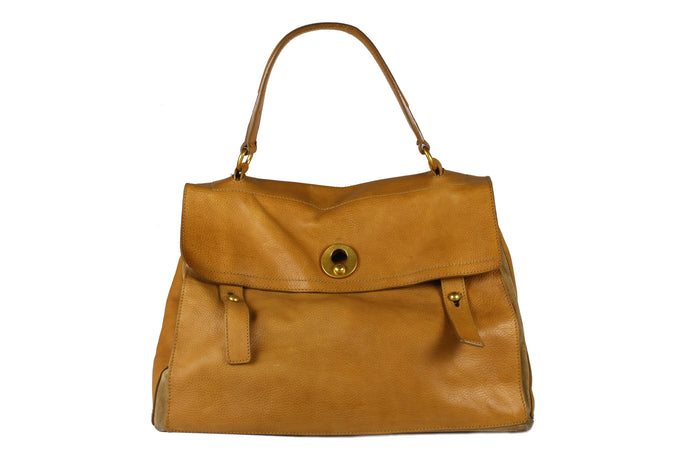YVES SAINT LAURENT Muse Two camel leather bag