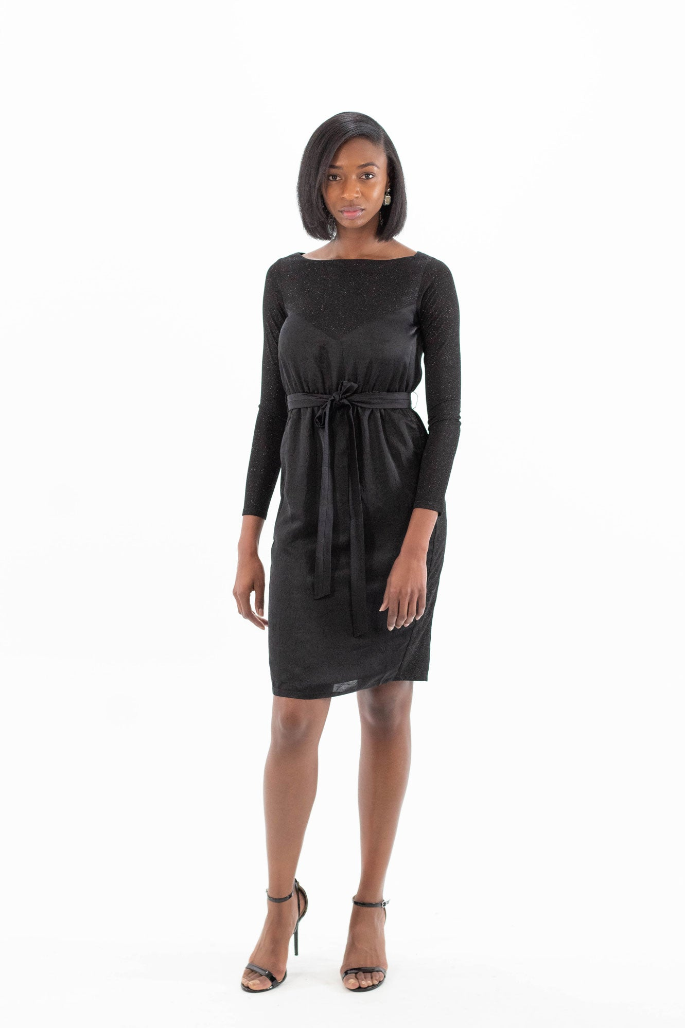 Black Party Dress with Pockets