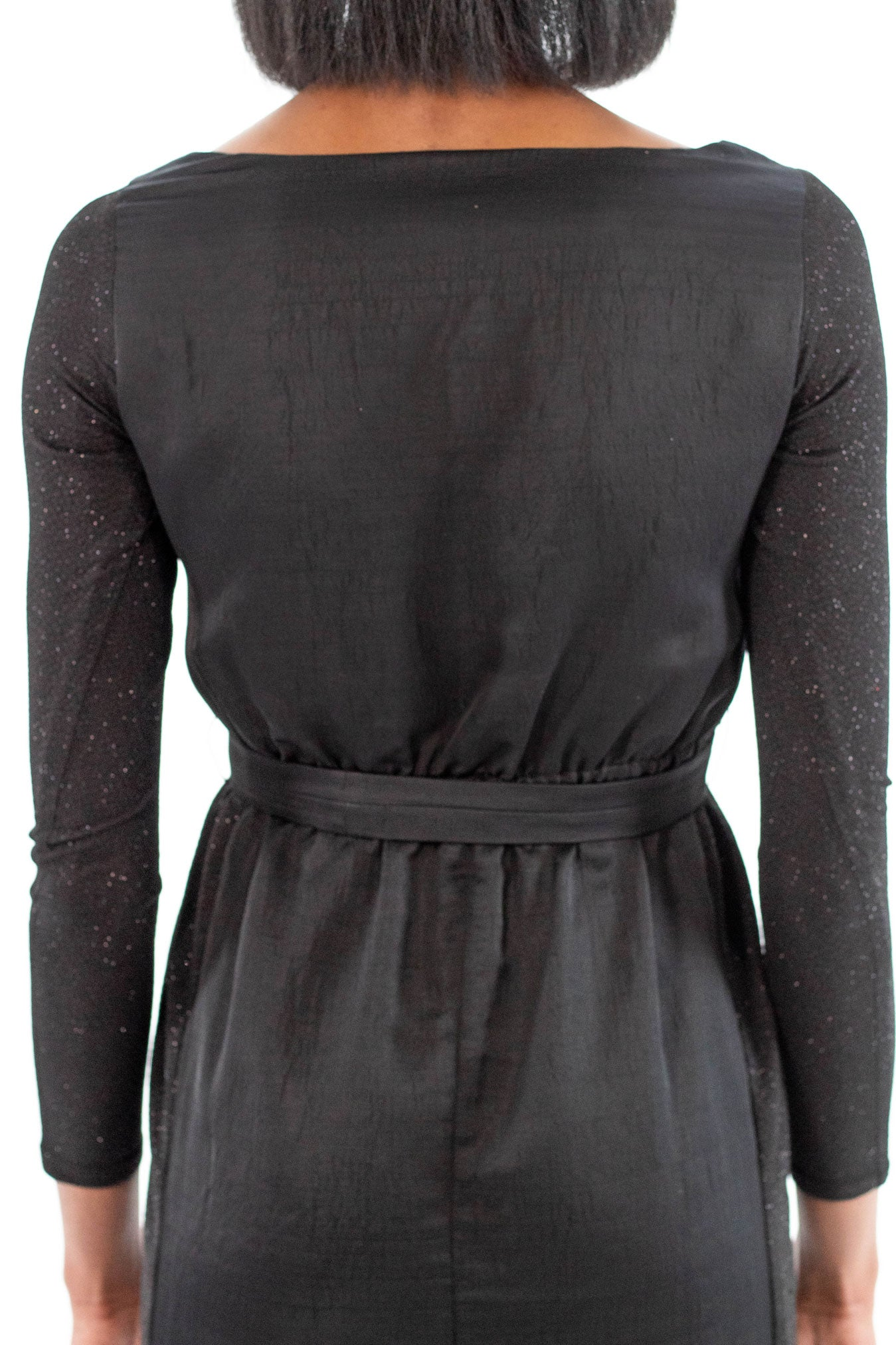 Black Dress with Pockets and Sleeves