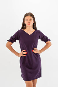 Purple Dress with Pockets