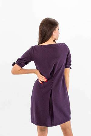 Purple Dresses with Pockets