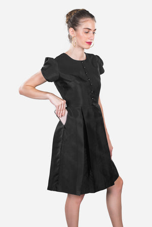 Women's formal black dress with pockets, elegant black dress, work dress, business dress, business attire, evening wear, #dresseswithpockets #blackdresseswithpockets #blackdress #formaldresses #dresses #dressesforwomen #classydress #classyblackdress #prettyblackdress #elegantdress #perfectlittleblackdress #womensblackdress #blackdressforwomen #eveningdressformal  #blackdresswithpocketsandsleeves #blacktafettadress #businessdress #businessattireforwomen #workdresses