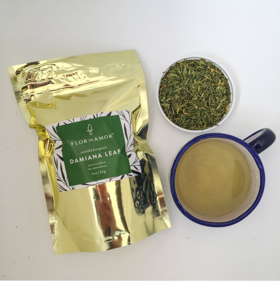 Organic Damiana Leaf 2 oz. Herbal tea & smoke for stress & sleep support