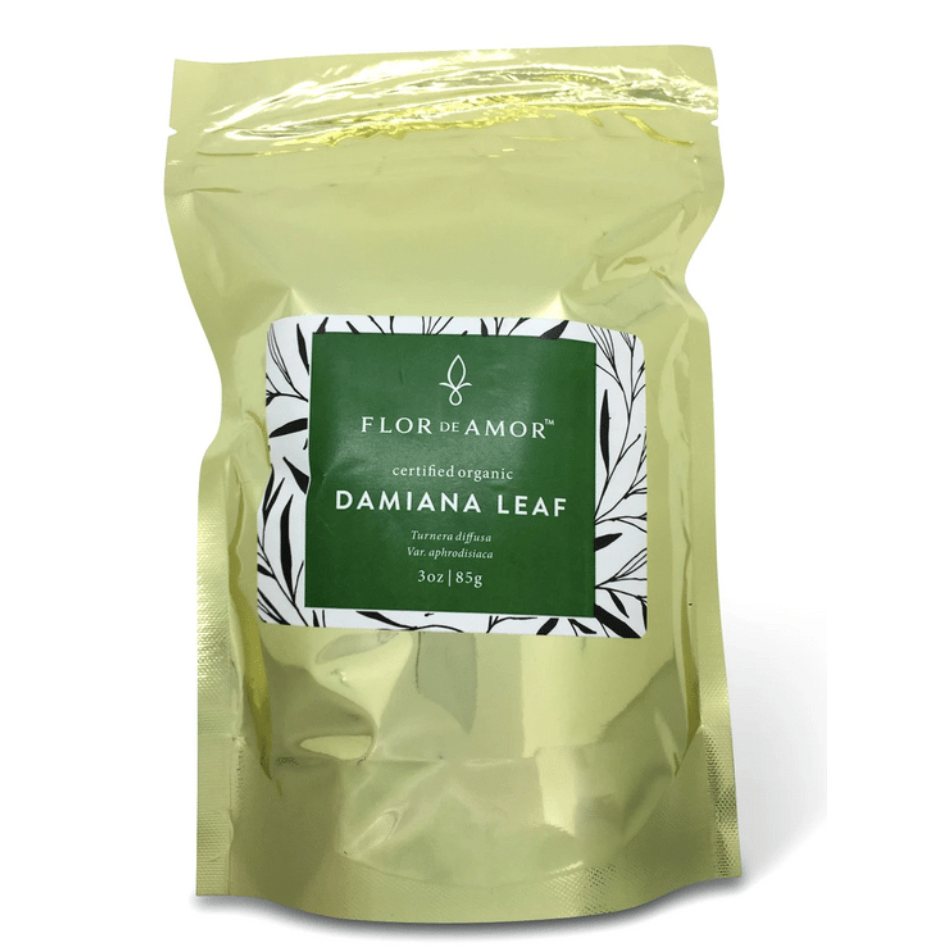Organic Damiana Leaf 3 oz. Herbal tea & smoke for stress & sleep support