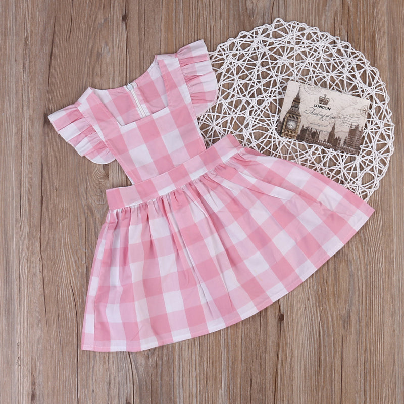 Plaids Ruffles  Sundress Dress 1-6Y, Dresses & Skirts - Hug Hug Baby