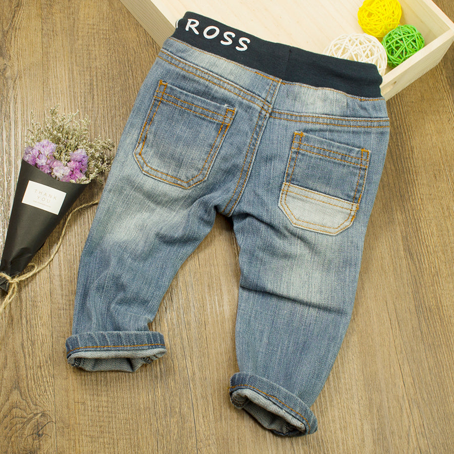 Denim Jeans with Elastic Band 0-24M, Pants & Shorts - Hug Hug Baby