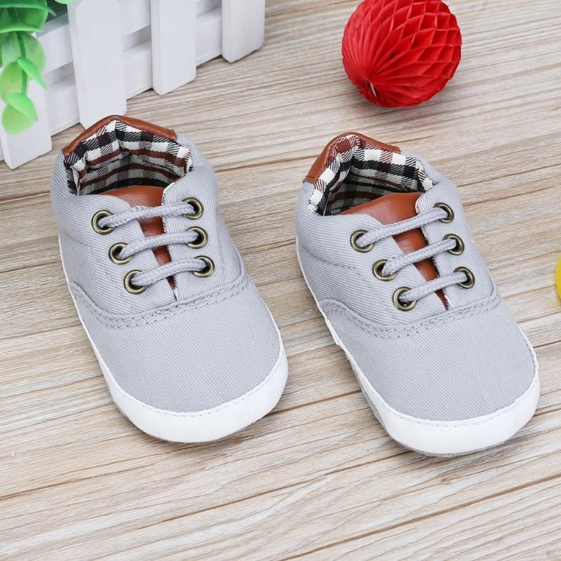 Anti-Skid Soft Sole Shoes with Shoe Laces 0-18M