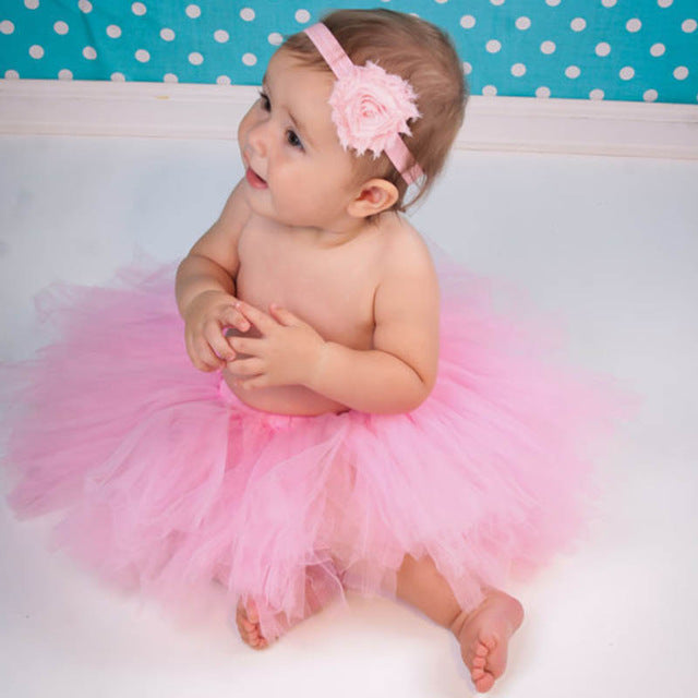 Newborn Baby Girls Hairband & Tutu Dress (Pink), Photography - Hug Hug Baby
