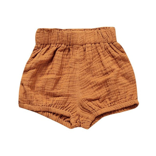 Woven Cotton Nappy Diaper Shorts 6M to 5Yr, Pants & Shorts - Hug Hug Baby