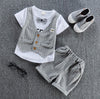 Baby Boys T-shirt with Bow Tie and fake vest and Pants Set 1-4Yr, Sets - Hug Hug Baby