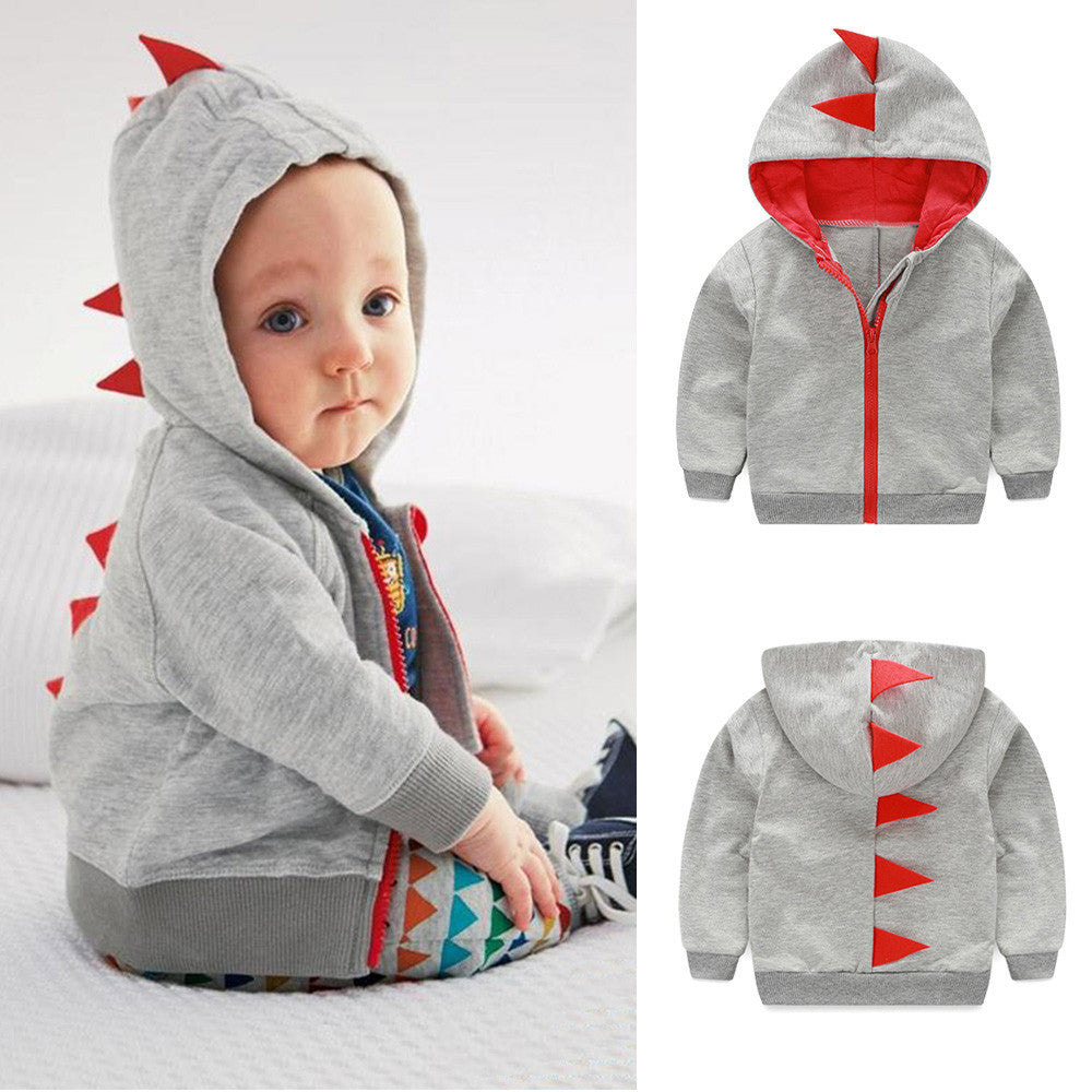 Dinosaur Hooded Zipper Jacket 0-18M, Jackets & Coats - Hug Hug Baby