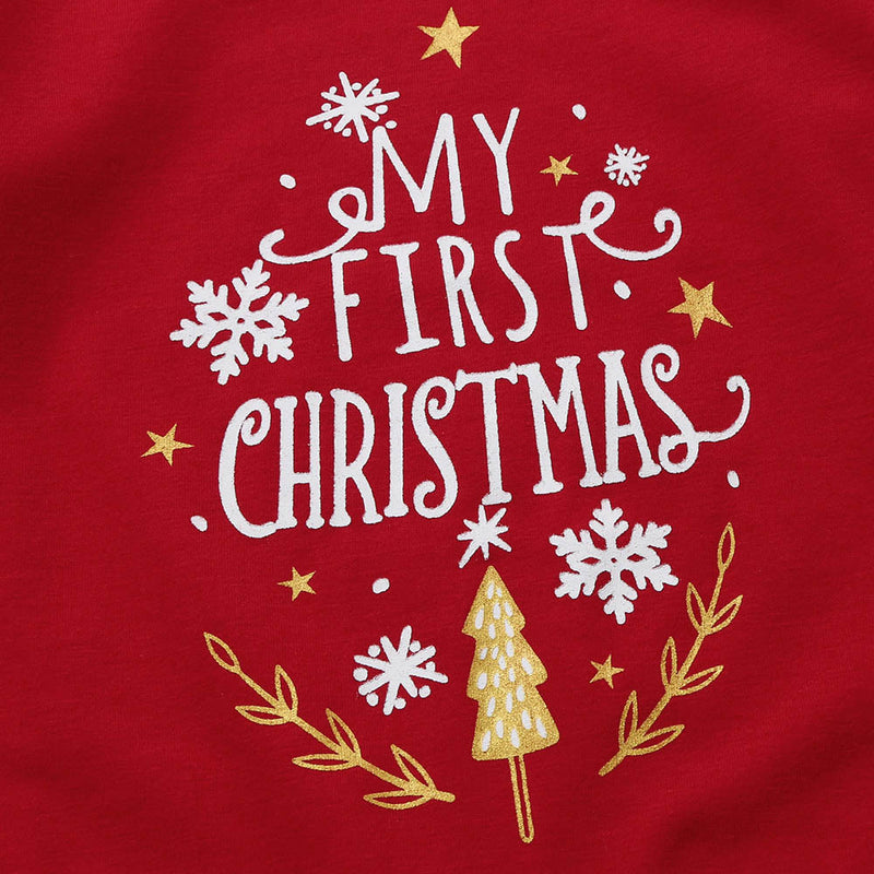 "Baby ""My First Christmas"" Rompers Jumpsuit, Rompers & Jumpsuits - Hug Hug Baby"