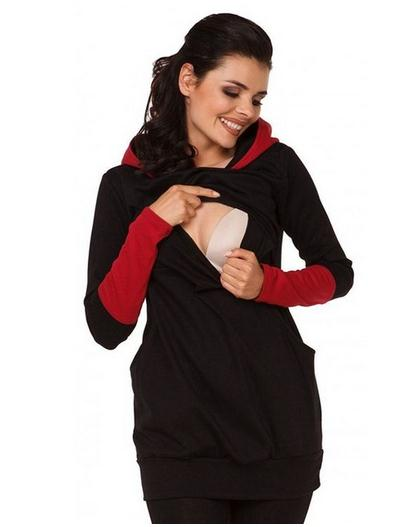 Warm Cotton Nursing Long Hoodies with Pockets S-XXL, Tops - Hug Hug Baby