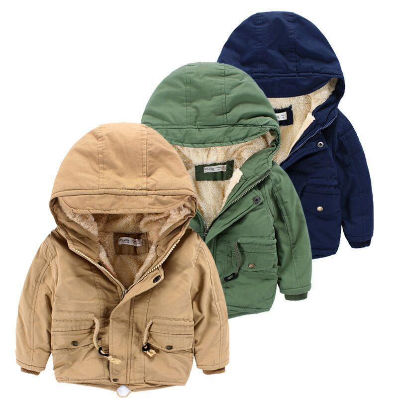 Army Colour Fleece Hooded Jacket 2-8Yr, Jackets & Coats - Hug Hug Baby
