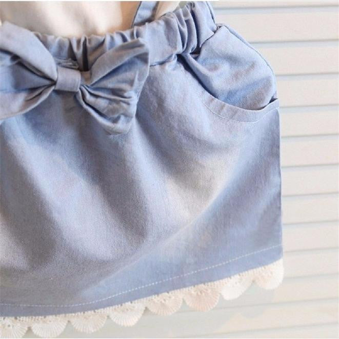 Baby Girls 1 Piece Denim Cotton Dress, Dresses & Skirts - Hug Hug Baby