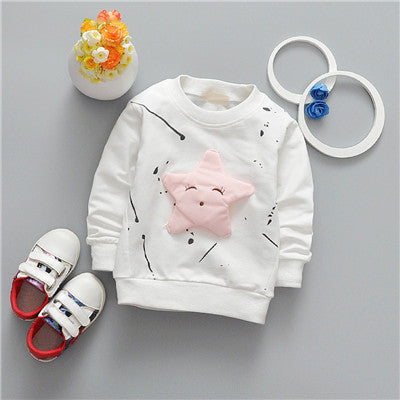 Long Sleeve 3D Star Top Jumper 6-24M, Tops - Hug Hug Baby