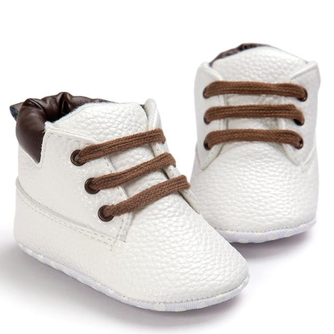 Baby Toddler Soft Sole White Leather Shoes, Shoes - Hug Hug Baby