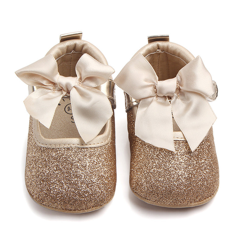 Baby Girls Bling Bowknot Soft Sole Anti-slip Shoes, Shoes - Hug Hug Baby