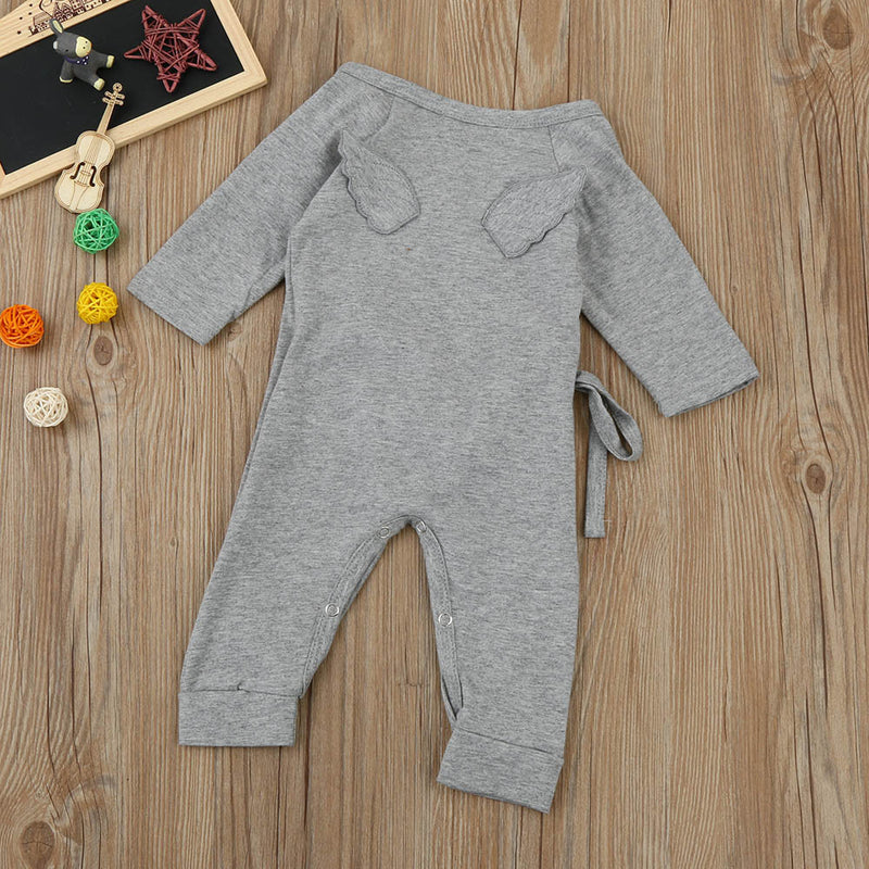 Baby Angel Wings Lacing Romper Jumpsuit 0-18M, Rompers & Jumpsuits - Hug Hug Baby
