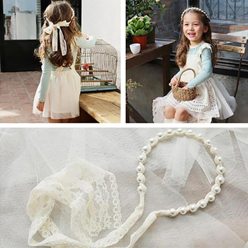 Baby Girl Lace Pearls-Like Hairband, Headwear - Hug Hug Baby