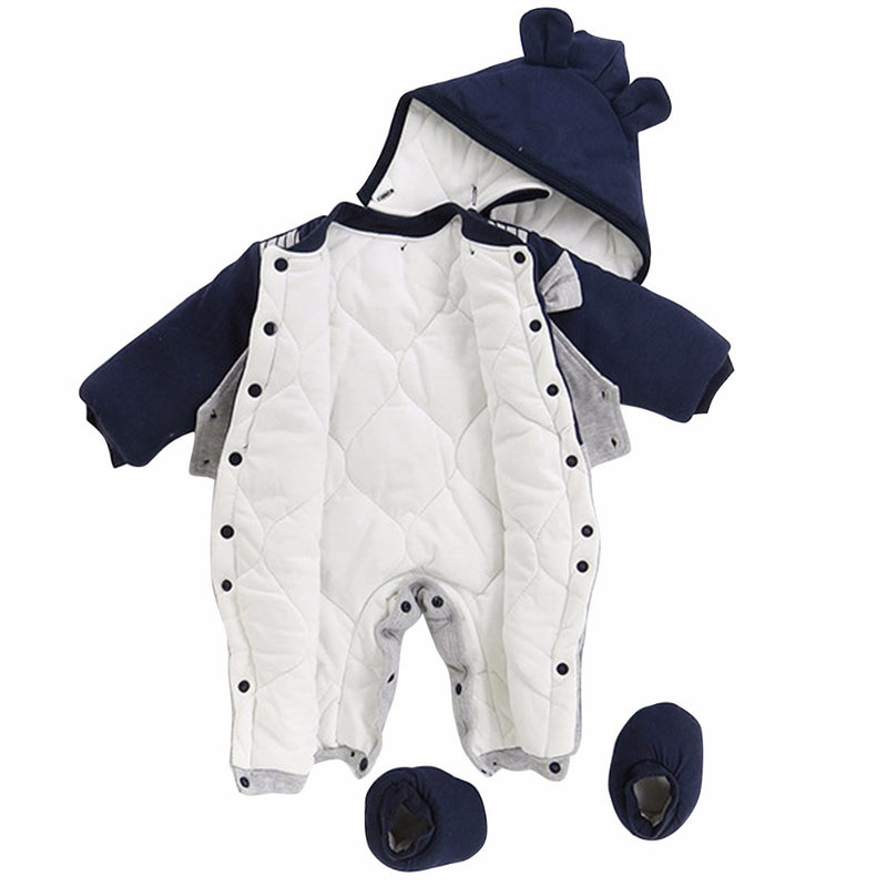 Gentleman Long Sleeve Thick Jumpsuit Outfit 6-18M, Rompers & Jumpsuits - Hug Hug Baby