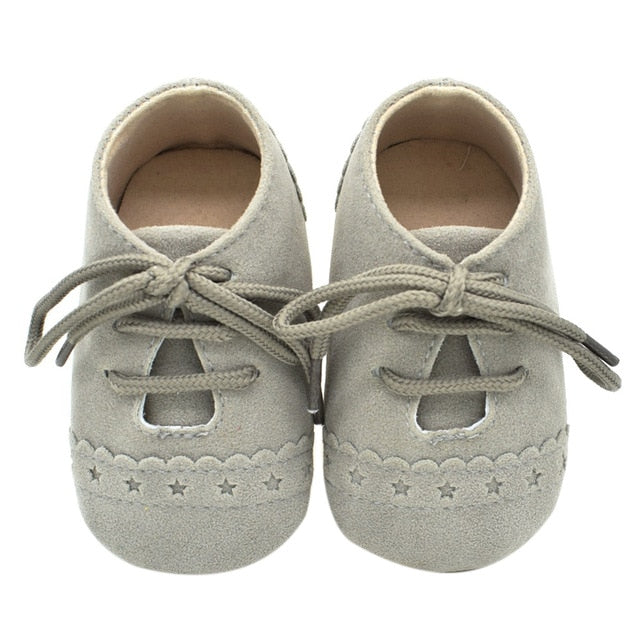 Anti-slip Soft Moccasins Shoes with Shoelace 0-18M, Shoes - Hug Hug Baby