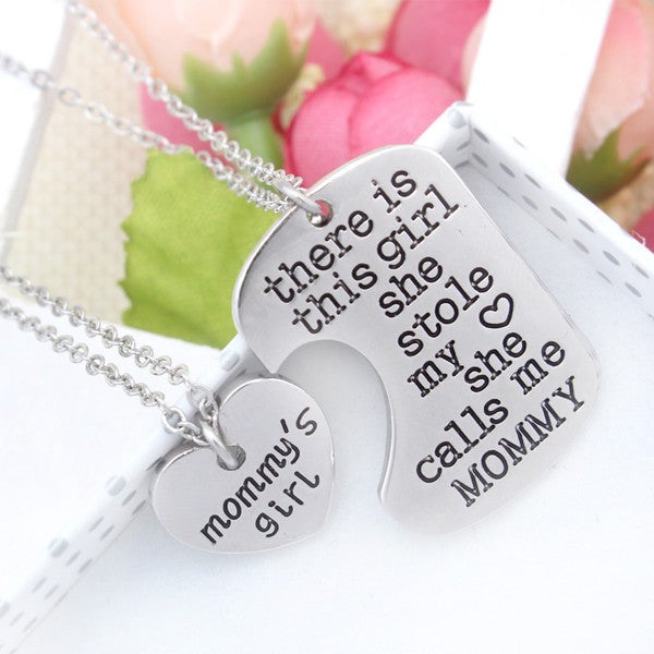 Mommy's Girl Charm Pendant, Accessories - Hug Hug Baby