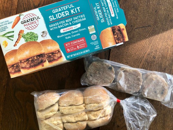 Grateful Slider Kit: Grass Fed Beef with Bacon & Cheddar (2 Pack)