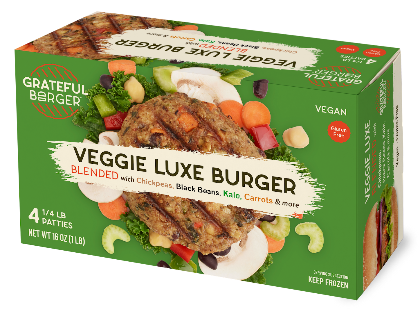 Veggie Luxe Burger with Garden Veggies