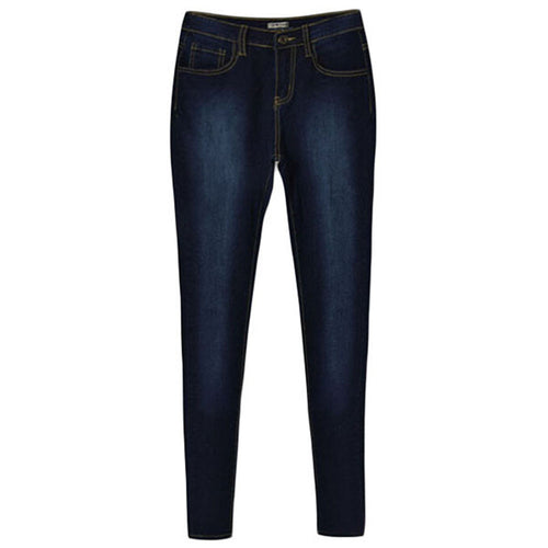 Stone Washed High Waist Skinny Jeans