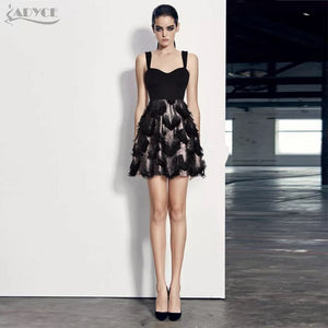 Adyce Bandage Black Feather dress