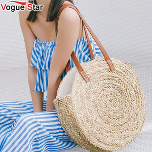 Hand Woven Natural Oval Large Big Tote Straw Bag
