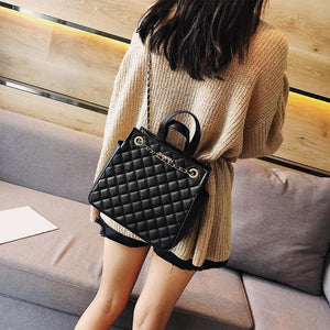 Casual PU Leather Chain Shoulder Crossbody Bag
