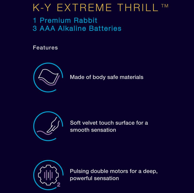 K-Y EXTREME THRILL - Premium Rabbit