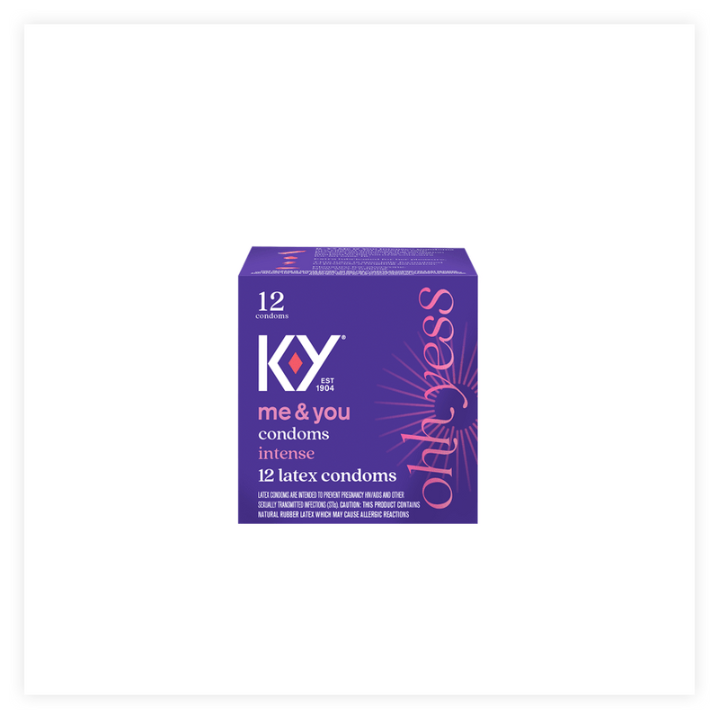 K-Y Intense Natural Rubber Latex Condom with Silicone-Based Lube